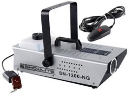 Showlite SN-1200 Nebelmaschine (1200W, 350m³ Nebelausstoß/min, 7 Min. Aufwärmzeit) inkl. Funk Fernbedienung -