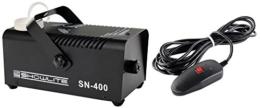 Showlite SN-400 Nebelmaschine 400W mit Fernbedienung (Nur 3 Minuten Aufwärmzeit, 40m³/min Nebelausstoß, 3,5m Sprühdistanz) schwarz -