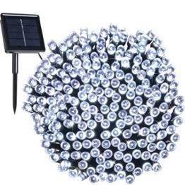 Solar Außen Lichterkette, 8 Modi 200er LED, 22 Meter Garten Märchenhaft Dekoration Licht für Weihnachten, Party, Hochzeit, Wohnungen(Weiß) IP44 Wasserdicht -