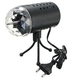 SOLMORE Disco RGB Stimme Aktiviert LED Lichteffekt Bühnenbeleuchtung Kristalleffekt Lampe Projektor DJ Party 3W 110-220V -