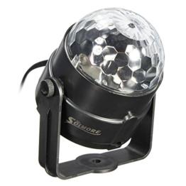 SOLMORE Mini 5W Disco RGB Stimme Aktiviert LED Lichteffekt Bühnenbeleuchtung Kristalleffekt Lampe Projektor für Club Party -