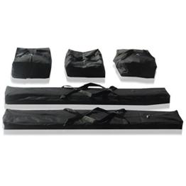 Taschenset Zelttaschen 4 m für ECONOMY / PREMIUM Zelte für Pavillon Partyzelt - 5 Stück Tragetaschen Transporttaschen, zur sicheren Aufbewahrung, aus robustem Oxford Material 480g -