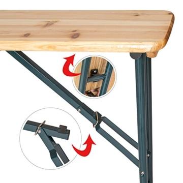TecTake XXL Quattro Biertisch Stehtisch klappbar für bis zu 20 Personen ca. 241x241x103cm (LxBxH) inkl. Schirmhalter -