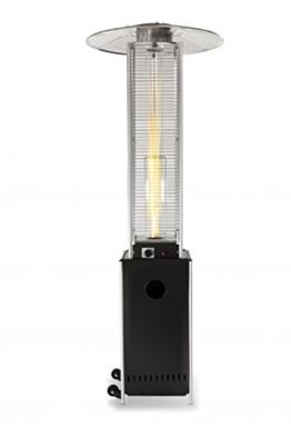 Terrassen-Heizstrahler 'Optical Pro': CE-zertifizierter Gasheizer mit elegantem Design, robuster Stahl-Alu-Rahmen für stabilen Stand des Terrassenheizers, gesamte Heizpilz-Höhe 225 cm -