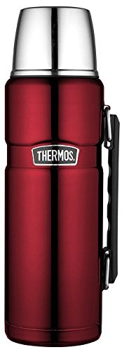 Thermos 4003.248.120 Isolierflasche Stainless King edelstahl (1,2 Liter) cranberry -