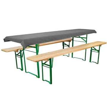 Tischdecke für Bierzeltgarnitur - 90x240 cm (für Tischbreite 70 cm) in Anthrazit - Biertisch-Decke Festzeltgarnitur -