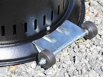 Traedgard® Heizstrahler Kompakt Midi schwarz, Höhe ca. 142 cm, schwarz pulverbeschichtet mit Rollenset und Schutzhülle, ca. 12 KW Heizleistung -