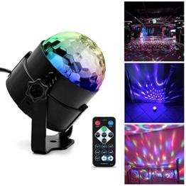 Ubegood LED Disco Licht Beleuchtung DJ Party licht Bühnenbeleuchtung LED Lichteffekt einer Discokugel Lampe Projektor für Weihnachten, Halloween, Disco, Bar, Partei, Xmas, Club, Karaoke, Bühne, Tanzfläche, Schlafzimmer, Draussen(mit Fernbedienung) -
