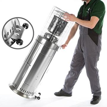 Ultranatura Edelstahl Gas-Heizstrahler GH-12 - Terrassenheizung regelbar bis 12 KW -