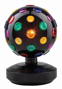 Uni-Elektra Tisch Disco-Kugel Partylicht, stehend, schwarz 62012 -