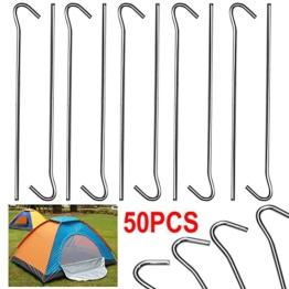 Yahee 50 x Hering 20 cm - Zeltnagel - Erdnagel -Zelthering-verzinkt -