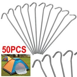 Yahee Heringe Zeltheringe Zeltnagel für die Befestigung der Zelten, Tornetzen, Fischernetzen, Markisen Länge: 20cm / Durchmesser: 4mm 50stk -