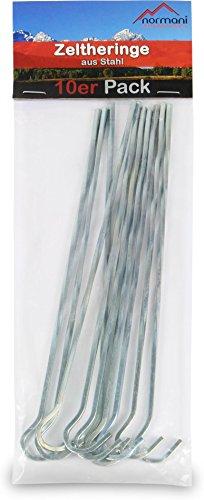 Zeltheringe 22 cm aus verzinktem Stahl 50 Stück -