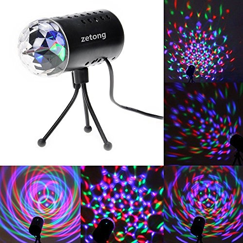 Zetong mini 3w disco rgb stimme aktiviert led for Projecteur gifi