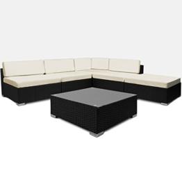 16tlg PolyRattan Lounge Set XXL Sitzkissen Sitzgarnitur Sitzgruppe Gartenmöbel Gartengarnitur Garten Rattan -
