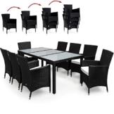 17tlg PolyRattan Sitzgruppe Gartenmöbel Gartenset Lounge Rattan Gartengarnitur Essgruppe Rattan -