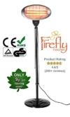 2.000 Watt Firefly Quarz-Heizstrahler, höhenverstellbar mit 3 Wärmestufen -