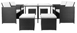 21tlg PolyRattan Sitzgarnitur Gartengarnitur Lounge Gartenset Sitzgruppe Essgruppe Gartenmöbel Rattan -