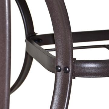 5er Set Sitzgruppe mit Glastisch Ø 120 cm Klappstuhl schwarz Gartengarnitur Gartenmöbel mit Schirmloch witterungsbeständig pflegeleicht Stahlrahmen klappbar verstellbar -