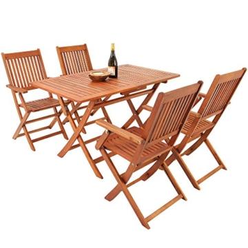 5tlg Sitzgarnitur Sydney Akazienholz Sitzgruppe Essgruppe Gartengarnitur Gartenmöbel Gartenset -