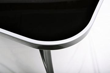 7tlg Alu Sitzgruppe Gartengarnitur Gartenset mit Glastisch mit Sicherheitsglas und Sonnenschirmloch Rahmen aus Aluminium 150 x 89 x 72 cm und 6 schwarzen Stapelstühlen stapelbar platzsparend Hochlehner Gartenstuhl witterungsbeständig wartungsfrei -