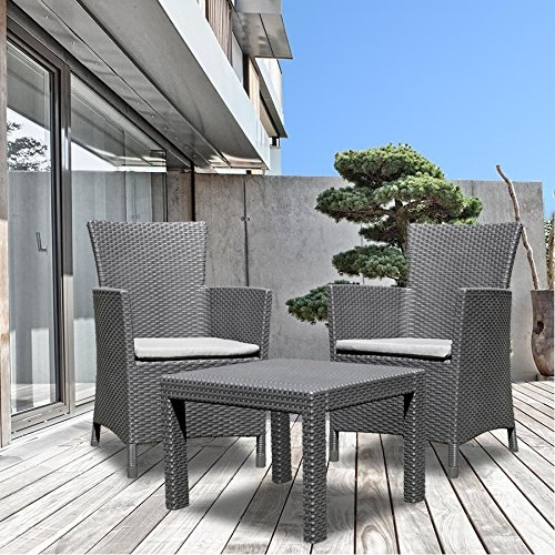 allibert balkon sitzgruppe utah graphit balkonm bel rattanm bel gartenm bel neu partyzelt. Black Bedroom Furniture Sets. Home Design Ideas