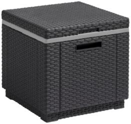 Allibert Kühlbox/Beistelltisch Ice Cube, Grau (Graphit) -