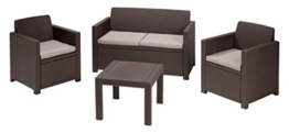 Allibert Lounge Set Alabama, Braun, 4-teilig -