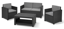 Allibert Lounge Set Monaco, Grau, 4-teilig -