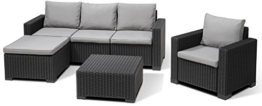 Allibert Lounge Set Moorea, Grau, 4-teilig -