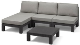 Allibert Lounge Set Nevada, Grau, 5-teilig -