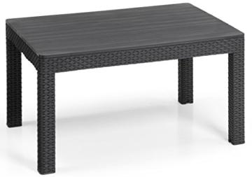 Allibert Lounge Set Orlando big table, Grau, 4-teilig -
