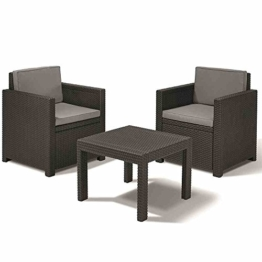 Allibert Lounge Set Victoria Balcony, Grau, 3-teilig -