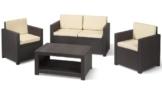 Allibert Möbel Lounge Set Monaco braun -