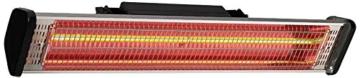 CasaTherm Infrarot Heizstrahler S1800 Gold Fernbedienung IP55, Silber, 1800 Watt -