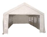 Dachplane / Zeltdach / Ersatzdach 4x8 PVC weiss -