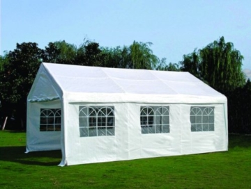 Ersatzdach - Ersatzplane für Zelt 4x6 Meter, PE - Material weiss -
