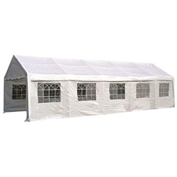 Ersatzplane Partyzelt Palma-  Dachplane für Zelt 4×10 Meter, PE weiss -