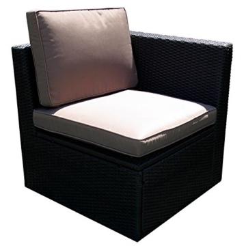 Gartenmöbel 10tlg. Sitzgruppe Poly Rattan Lounge Garten Garnitur ecru -