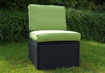 Gartenmöbel 10tlg. Sitzgruppe Poly Rattan Lounge Garten Garnitur grün -
