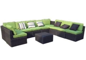 ᐅ Gartenmöbel 10tlg Sitzgruppe Poly Rattan Lounge Garten Garnitur