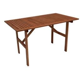 Gartentisch 70x120cm, Eukaylptus geölt, FSC®-zertifiziert -