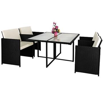 Poly Rattan 13 tlg Sitzgruppe Sitzgarnitur Gartenmöbel Lounge Rattan Gartenset Cube -