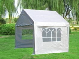 Profi Pavillon / Zelt Palma, 3x3 Meter in PVC-Qualität, Planen weiss mit Fenstern -