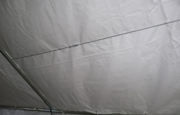 Profi Zelt Palma, 4x10 Meter, Planen PVC weiss, Gestänge 38mm verzinkt -