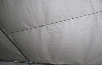 Profi-Zelt Palma 4x4 Meter, Planen PVC weiss, Gestänge 38mm verzinkt -