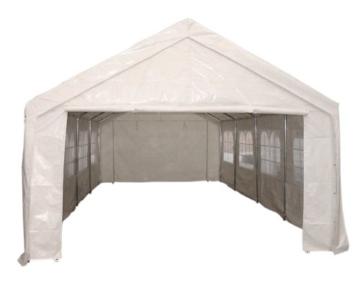 Profi-Zelt Palma 4x6 Meter in PVC-Ausführung, weiss, mit Fenstern -