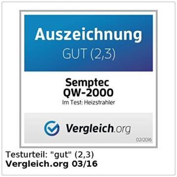 Semptec Urban Survival Technology QW-2000 Quarz-Heizstrahler mit Standfuß, höhenverstellbar -