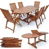 Sitzgruppe Vanamo 7 tlg. Tisch + 6 Stühle Holz -