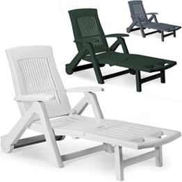 Sonnenliege Liege ZIRCONE Gartenliege Relaxliege Liegestuhl Gartenmöbel grün -